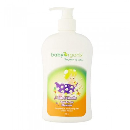 Baby Organix - Extra Gentle Top To Toe Cleanser 400ml (Grape)