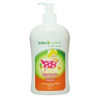 Baby Organix - Extra Gentle Top To Toe Cleanser 400ml (Rose)