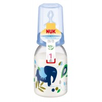 NUK - Classic: Standard Neck Bottle With Silicone Teat 1M (0-6m) 1pk 110ml/3.5oz