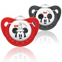 NUK - MICKEY Sleeptime Silicone Soother (0-6m) 2pcs