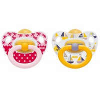 NUK - Printed Latex Soother (6-18m) 2pcs