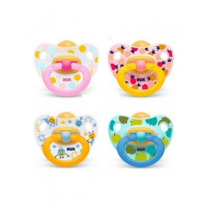 NUK Printed Latex Soother (0-6m) 2pcs
