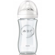 Avent - Natural Glass Bottle 8oz / 240ml