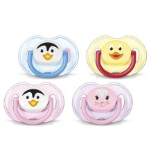 Avent - Animal BPA Free Soother 0-6m (2pcs)