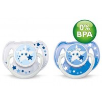 Avent - Night Time Soother 6-18m (2pcs) - BEST BUY