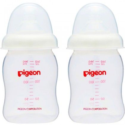Pigeon - Wide Neck PP Nursing Bottle  (BPA-Free) 160ml (Twin Pack)