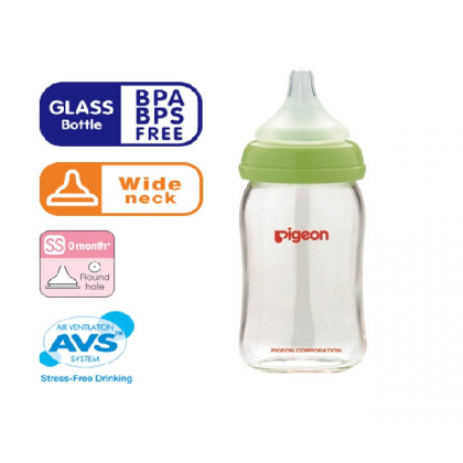 Pigeon - Wide Neck Nursing Bottle (Glass) 1pk 160ml