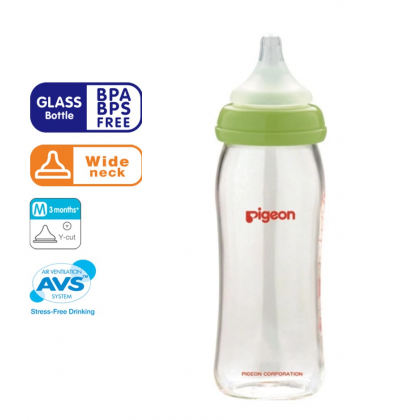 Pigeon - Wide Neck Nursing Bottle (Glass) 1pk 240ml