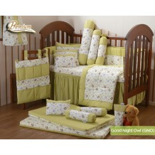 Babylove - Premium 7 in 1 Bedding Set (Good Night Owl)