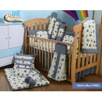 Babylove - Premium 7 in 1 Bedding Set (Marina Blue)