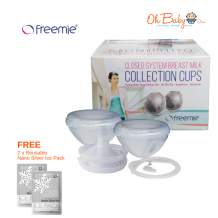 Freemie Closed System Collection Cups FREE 2x Nano Silver Ice Pack