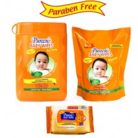 Pureen - Baby Wipes Value Pack (Fragrance Free) 150s+150s Refill (FOC 20s F.Free)