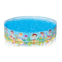 Intex - 5' Beach Days Snapset Pool - BEST BUY