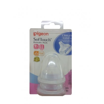 Pigeon - Peristaltic Plus Nipple for Wide Neck Size S / SS / M / L / LL  (2pcs)