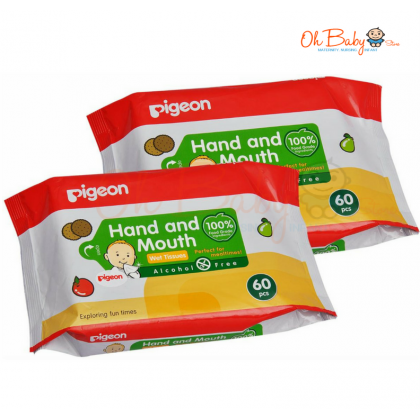 Pigeon - Hand and Mouth Wet Tissues (60x2)