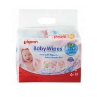 Pigeon - Chamomile & Rosehip Baby Wipes (6 x 82s REFILL)
