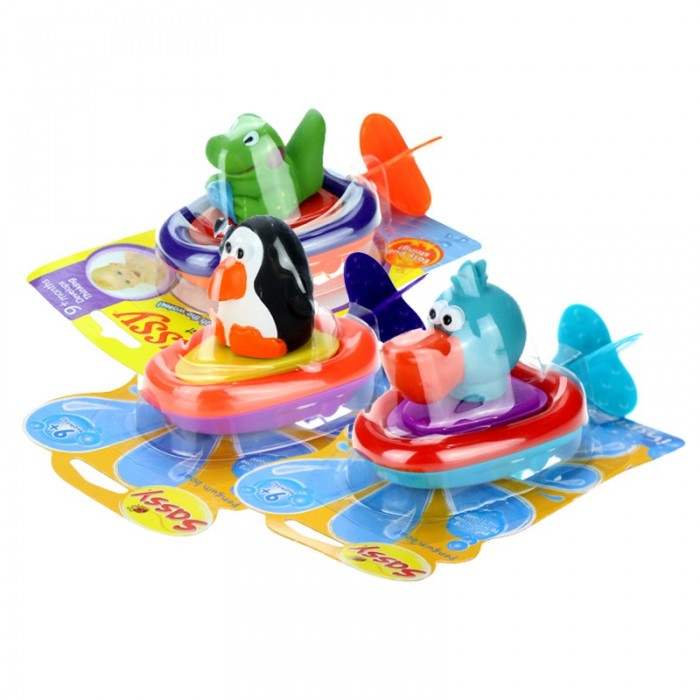 Lovable Pull Amp Go Boat Bath Toy