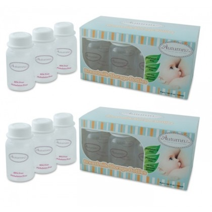 Autumnz - B/milk Storage Bottles (10 btls) - White Clear *2 boxes*