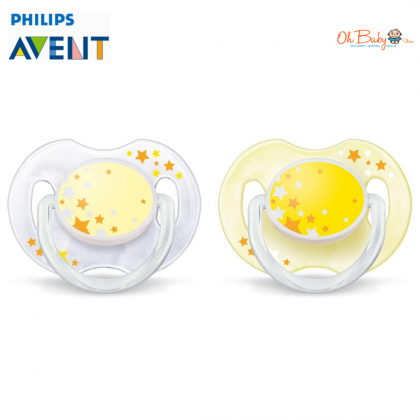 Avent - Night Time Soother 0-6m (2pcs)