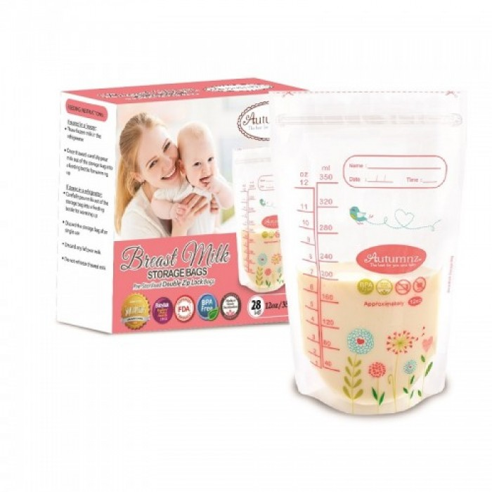 Autumnz Double Ziplock Breastmilk Storage Bag 25 Bags