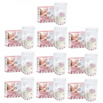 Autumnz Double ZipLock Breastmilk Storage Bag (28 bags) (12oz/350ml) *10 box*