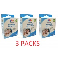 Bubbles - Breast Milk Storage Bag 7oz/250ml (25 Bags) *3 box*