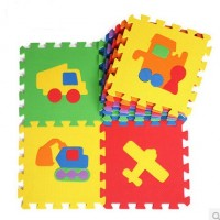 Lovable Soft Foam Puzzle Play Mat - Transportation (10pcs)
