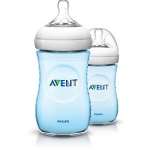 Avent - Bottle Natural 260ml / 9oz Twin Pack (Blue)