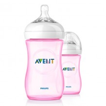 Avent - Bottle Natural 260ml / 9oz Twin Pack (Pink)
