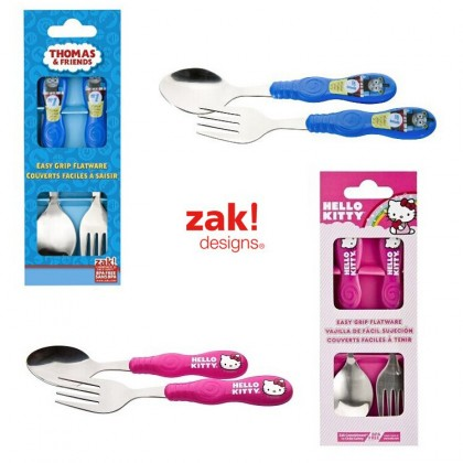 Zak Designs - Easy Grip Flatware - Spoon and Fork