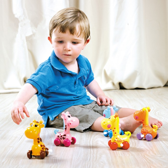 Toys For Early Childhood : Lovable giraffe clockwork early childhood education toy