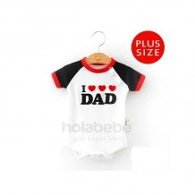 Holabebe - I Love Dad  Black (Plus Size)
