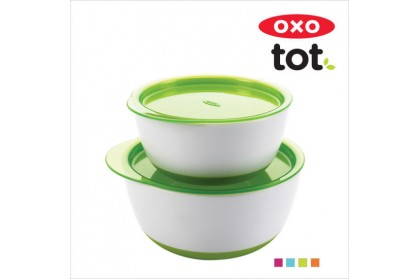 OXO Tot - Small & Large Bowl Set - Green