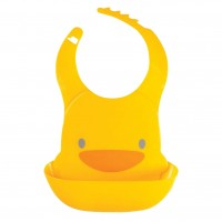 Piyo Piyo - Adjustable Waterproof Bib with Food Catching Tray