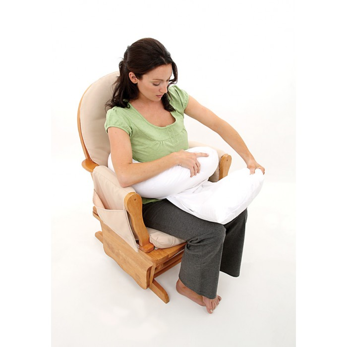 Dreamgenii Pregnancy And Feeding Support Pillow White