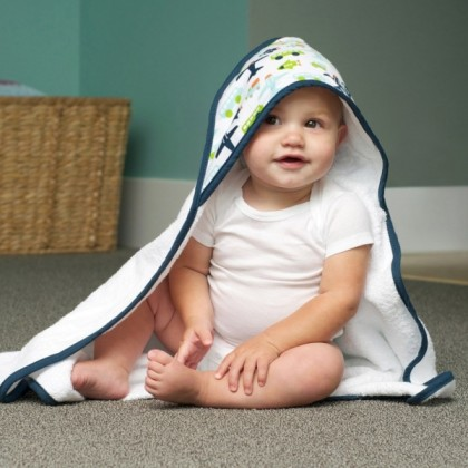 JJ Cole - Hooded Towel - White Vroom