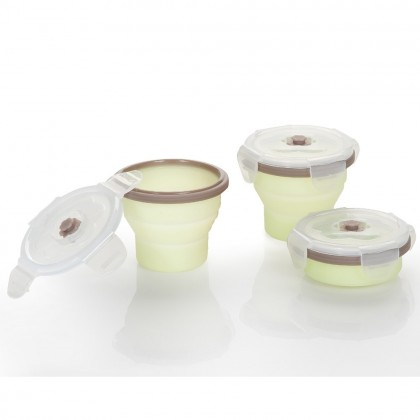 Babymoov- Silicone Containers Set (3 x 240ml)