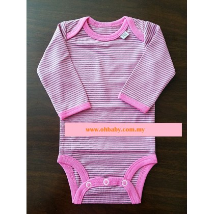 Mini Pod - Long Sleeve Romper (Pink)