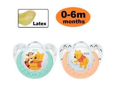 NUK Disney Sleeptime Latex Soother  (0-6m) 2pcs