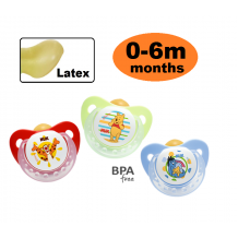 NUK - Disney Sleeptime Latex Soother  (0-6m) 2pcs
