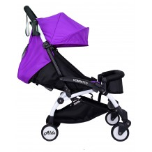 Aldo - Light Weight / Cabin Size Stroller Purple with Bumper Bar & Cup Holder