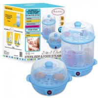 Autumnz - 2-in-1 Electric Steriliser and Food Steamer (Blue)