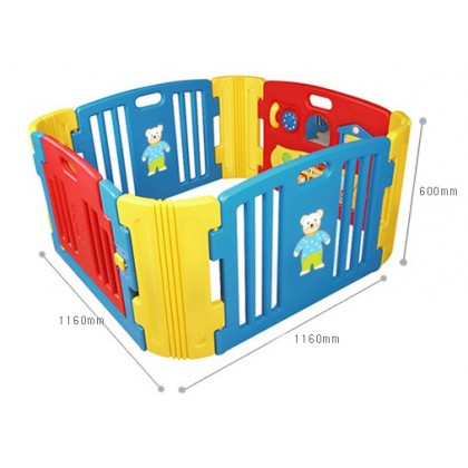 Haenim - Baby Play Yard with Melody 4 + 4 Panels (Blue)