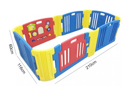 Haenim - Baby Play Yard with Melody 6 + 6 Panels (Blue)
