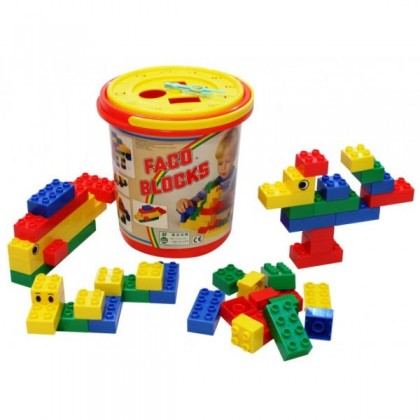 Faco Blocks Bucket 50pcs BEST BUY