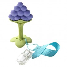 Ange - Fruit Teether Grape with Clip