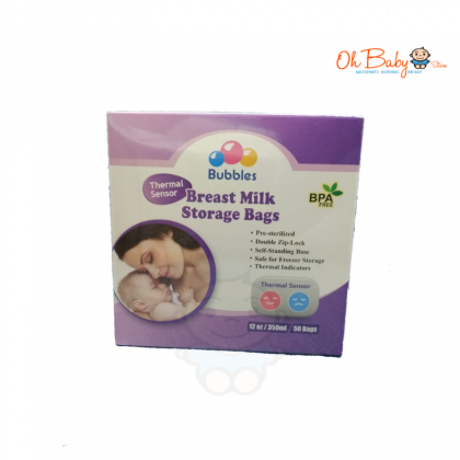 Bubbles - Breast Milk Storage Bag 12oz/350ml (50 Bags)