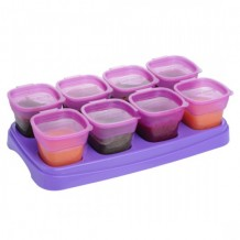 Autumnz Easy Baby Food Storage Cups 2oz Plum