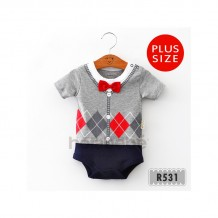 Holabebe - Little Baby Suit Grey Romper