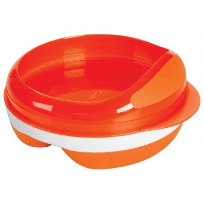 Oxo Tot - Divided Feeding Dish (Orange)